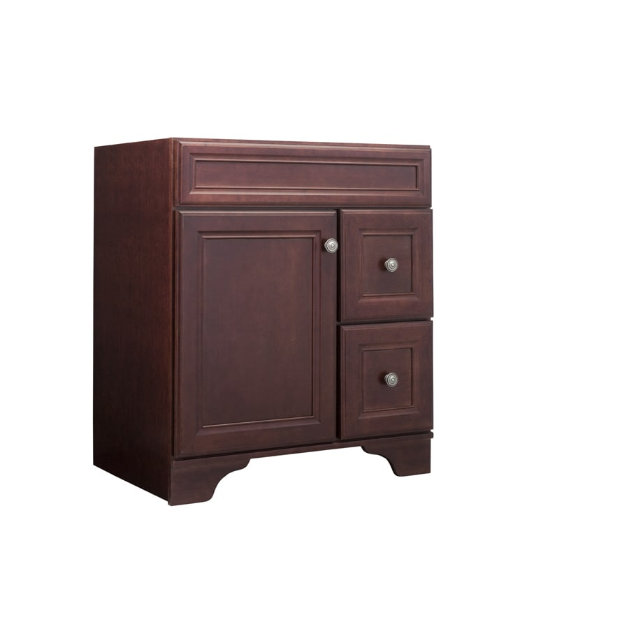 Shop Allen Roth 30 Auburn Cedarbrook Bath Vanity At