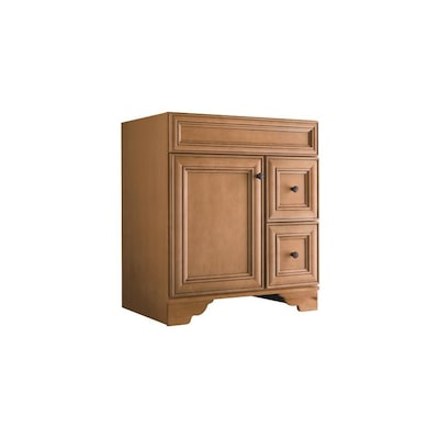 Style Selections Ryerson Golden Traditional Bathroom Vanity Common 30 In X 21 In Actual 30 In X 21 In In The Bathroom Vanities Without Tops Department At Lowes Com