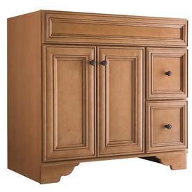 Style Selections Ryerson Golden Bathroom Vanity Common 36 In X 21