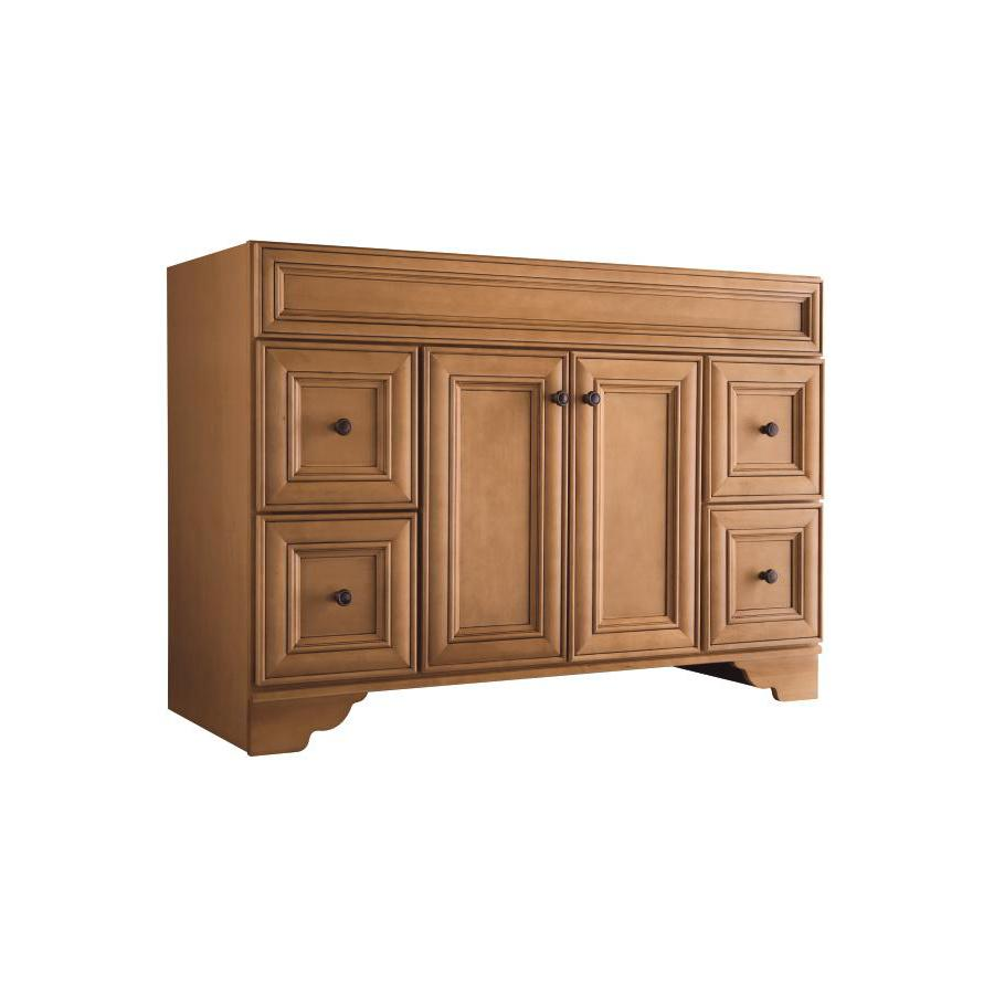 Shop Style Selections Ryerson Golden Bathroom Vanity Common In - Lowes 48 bathroom vanity