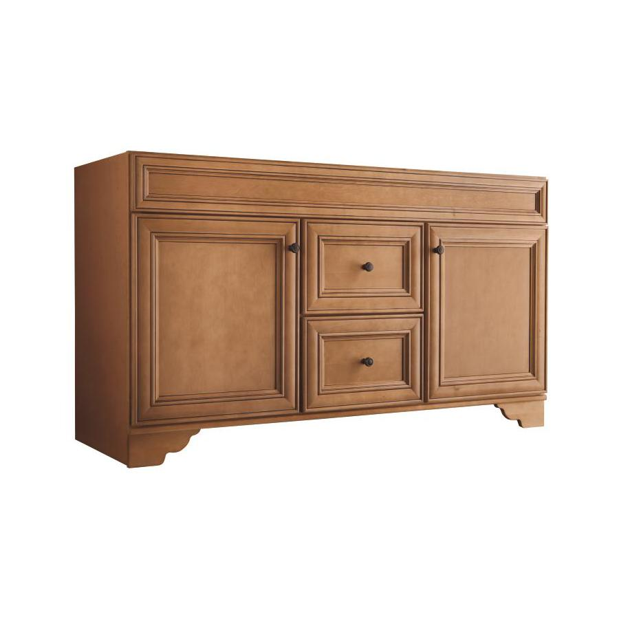 Style Selections Ryerson Golden 60-in Traditional Bathroom Vanity