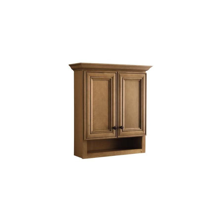 Style Selections Ryerson 28.39-in W x 31-in H x 9-in D Golden Birch Bathroom Wall Cabinet