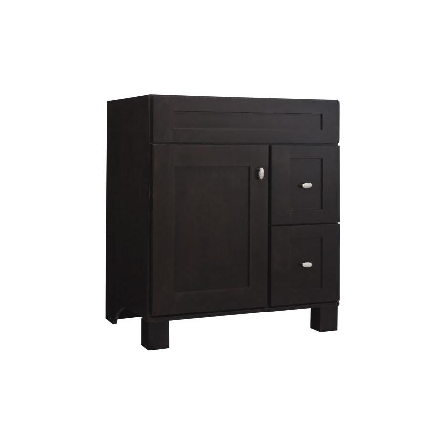 Bathroom Vanity 30 X 21 shop diamond freshfit palencia wall-mount espresso bathroom vanity