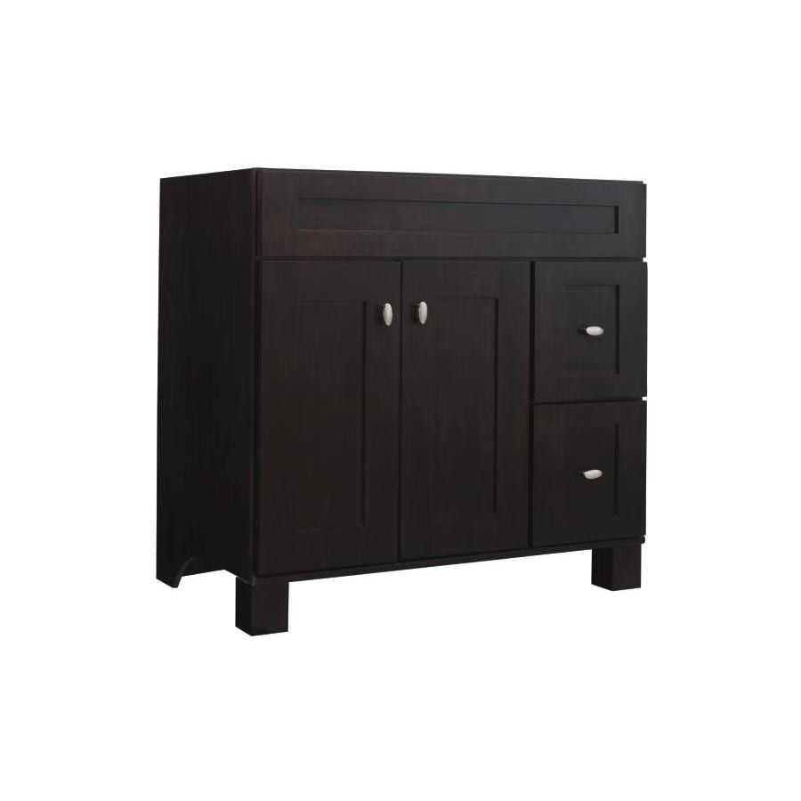 Diamond FreshFit Palencia Espresso 36-in Contemporary Bathroom Vanity