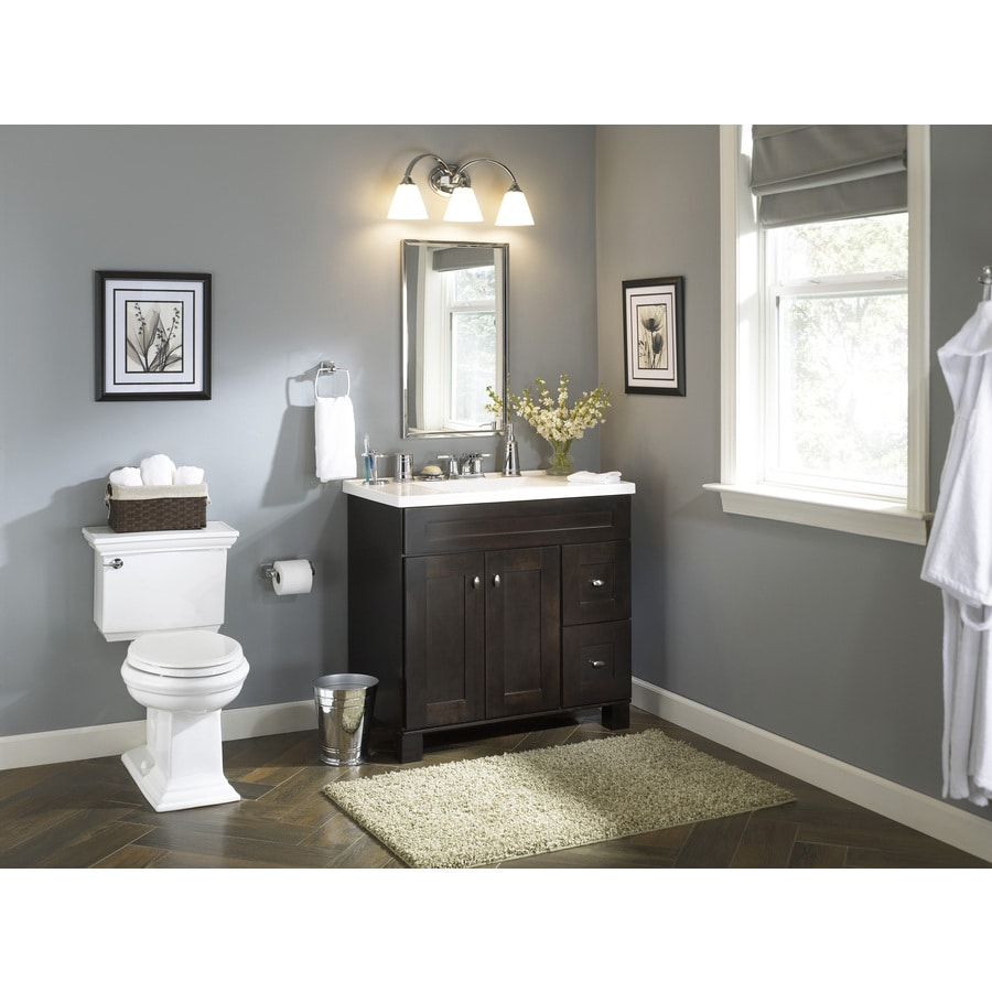 Diamond Freshfit Palencia Wall Mount Espresso Bathroom Vanity Common 36 In X 21 In Actual 36 In X 21 In In The Bathroom Vanities Without Tops Department At Lowes Com
