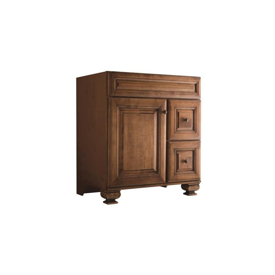 Diamond FreshFit Ballantyne Mocha with Ebony Glaze 30-in Traditional Bathroom Vanity