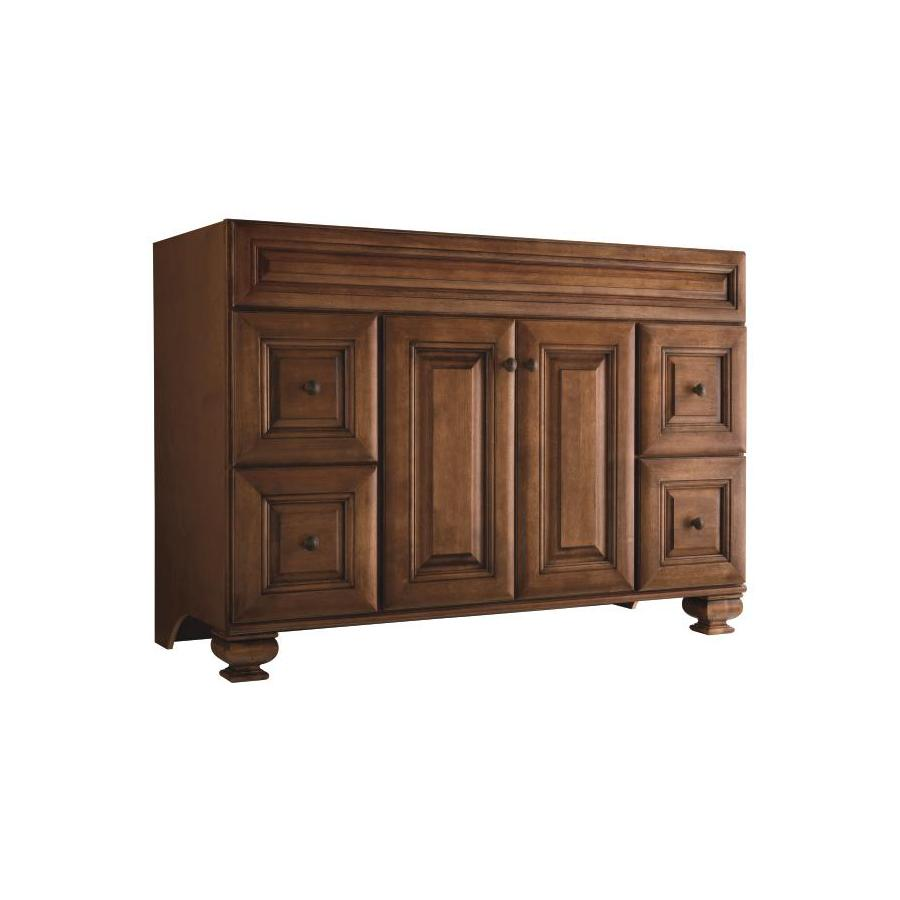 Diamond FreshFit Ballantyne Mocha with Ebony Glaze (Common: 48-in x 21-in) Traditional Bathroom Vanity (Actual: 48-in x 21-in)