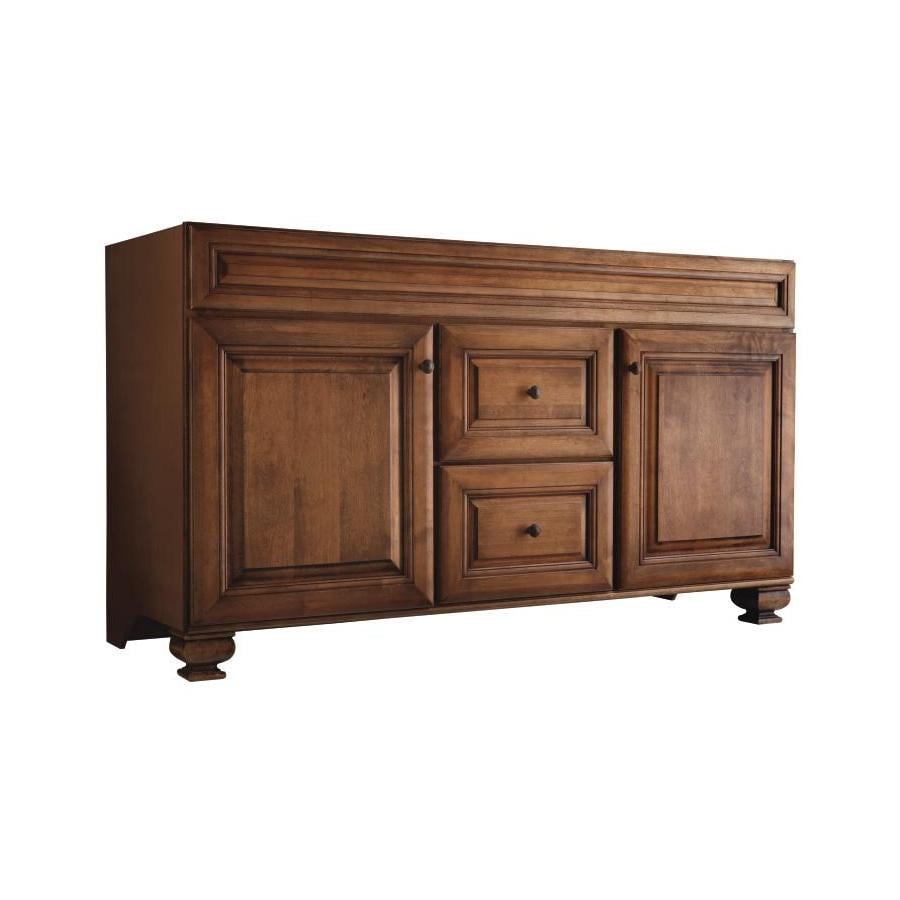 Diamond FreshFit Ballantyne Wall-mount Mocha with Ebony Glaze Bathroom Vanity (Common: 60-in x 21-in; Actual: 60-in x 21-in)