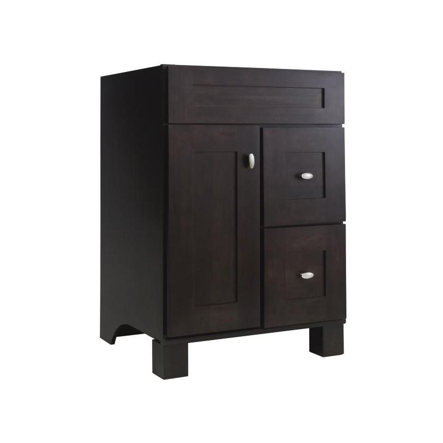 Diamond Freshfit Palencia Wall Mount Espresso 24 In X 21 Contemporary Bathroom Vanity