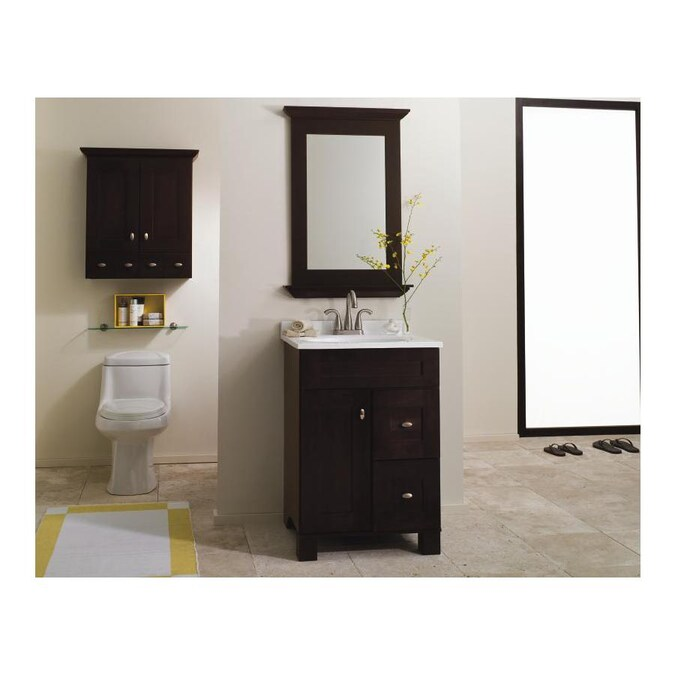 Diamond Freshfit Palencia 24 In Espresso Bathroom Vanity Cabinet In The Bathroom Vanities Without Tops Department At Lowes Com