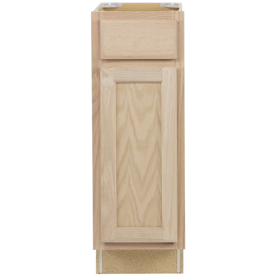 Project Source 12-in W x 35-in H x 23.75-in D Unfinished Door and Drawer Base Cabinet