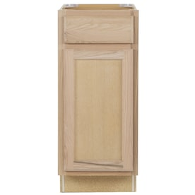 Project Source 15 In W X 30 In H X 12 In D Natural Unfinished Door Wall Stock Cabinet In The Stock Kitchen Cabinets Department At Lowes Com