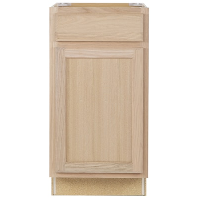 new style 2051f 1be6d 18-in W x 35-in H x 23.75-in D Unfinished Door and Drawer Base Stock Cabinet