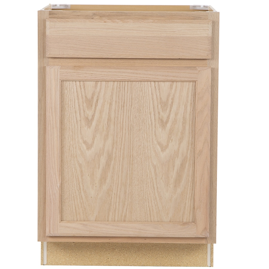 Project Source 24-in W x 35-in H x 23.75-in D Unfinished Door and Drawer Base Cabinet
