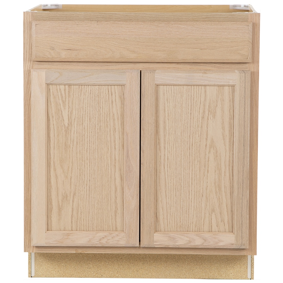 Project Source 30-in W x 35-in H x 23.75-in D Unfinished Door and Drawer Base Cabinet