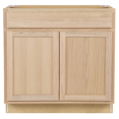 36-in W x 35-in H x 23.75-in D Unfinished Unfinished Door and Drawer Base  Stock Cabinet
