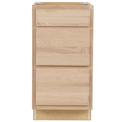 18-in W x 35-in H x 23.75-in D Unfinished Unfinished Drawer Base Stock  Cabinet