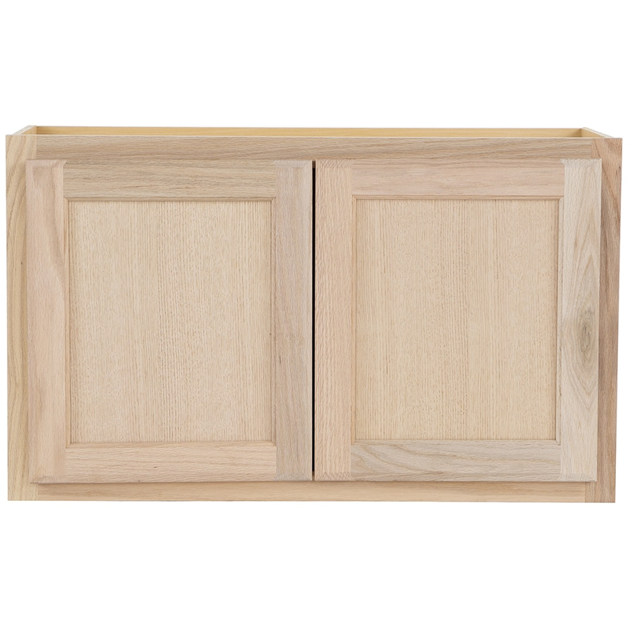 30 in w x 18 in h x 12 in d unfinished door wall cabinet at