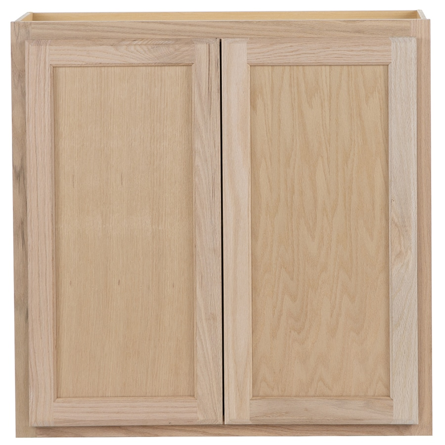 Project Source 30-in W x 30-in H x 12-in D Unfinished Door Wall Cabinet