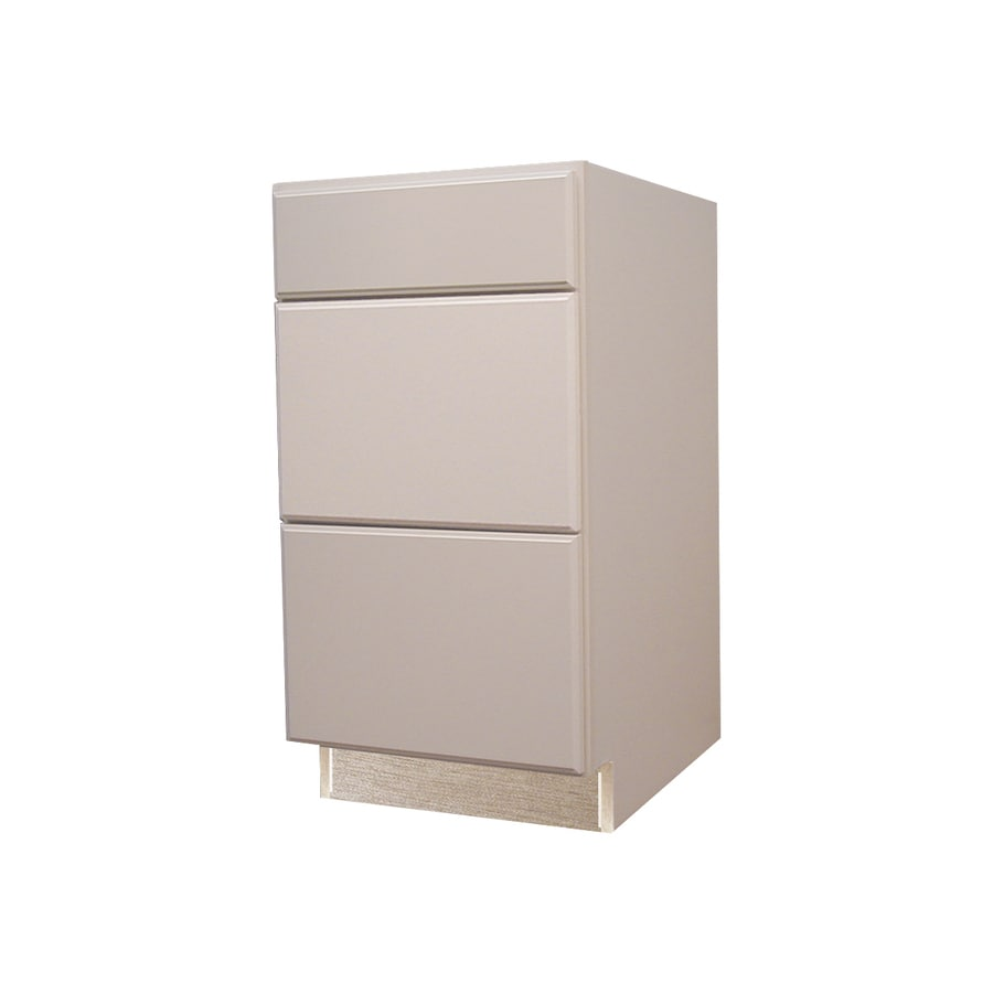 Kitchen Classics 35-in H x 18-in W x 23-3/4-in D Concord White Drawer Base Cabinet