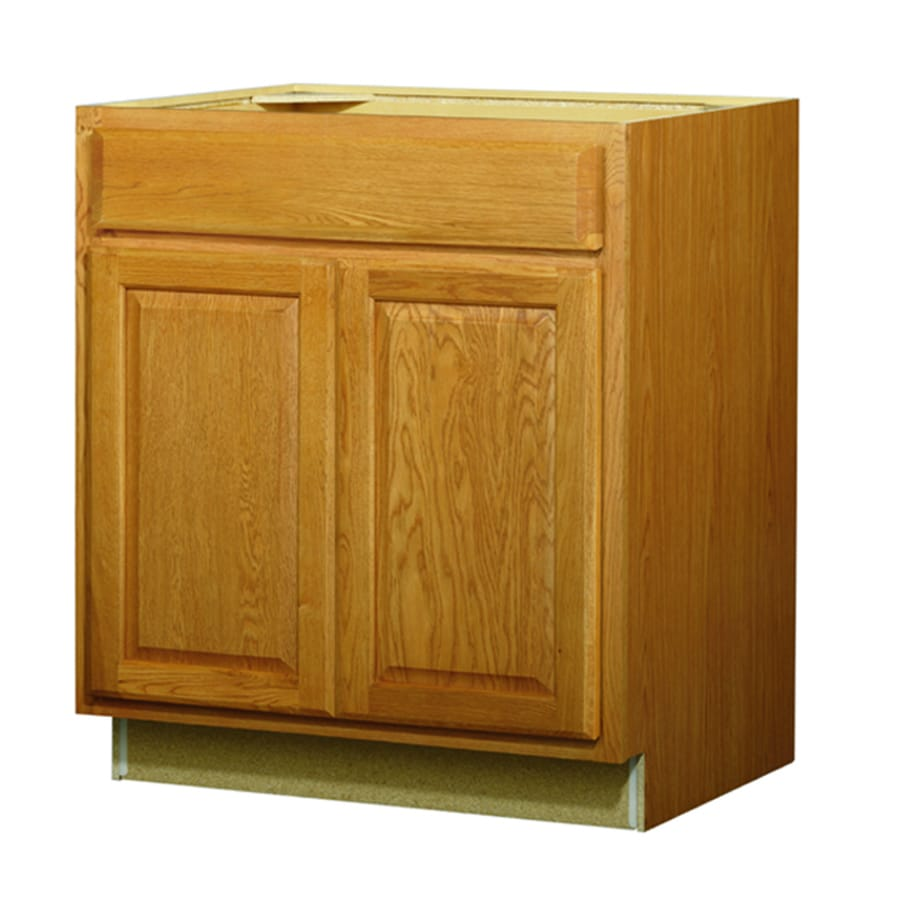shop kitchen classics portland 30 in w x 35 in h x d stained wheat sink base cabinet at. Black Bedroom Furniture Sets. Home Design Ideas