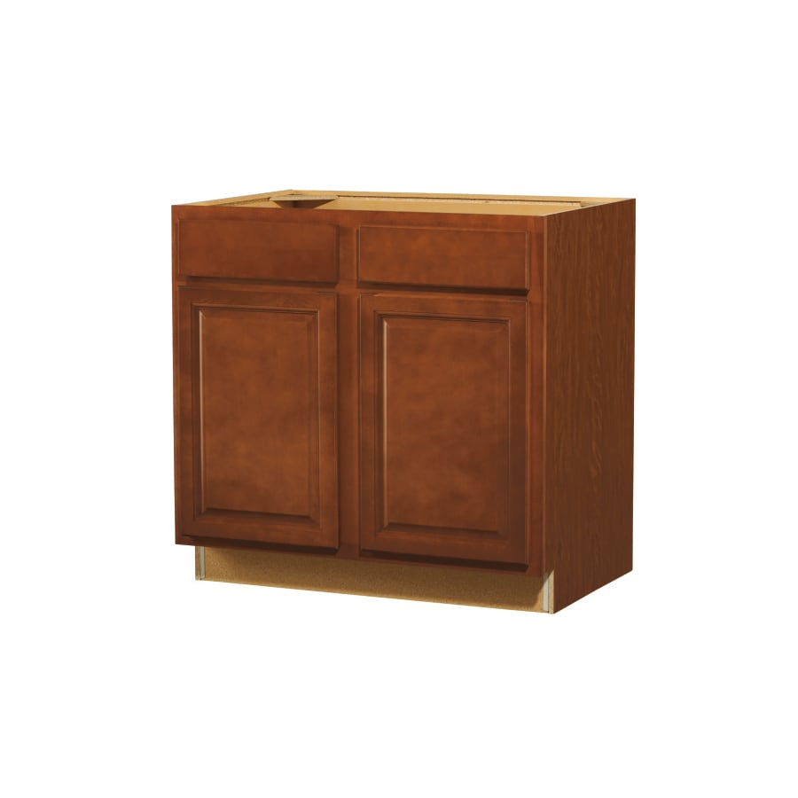 shop kitchen classics 35 in h x 36 in w x 23 3 4 in d cheyenne saddle sink base cabinet at. Black Bedroom Furniture Sets. Home Design Ideas