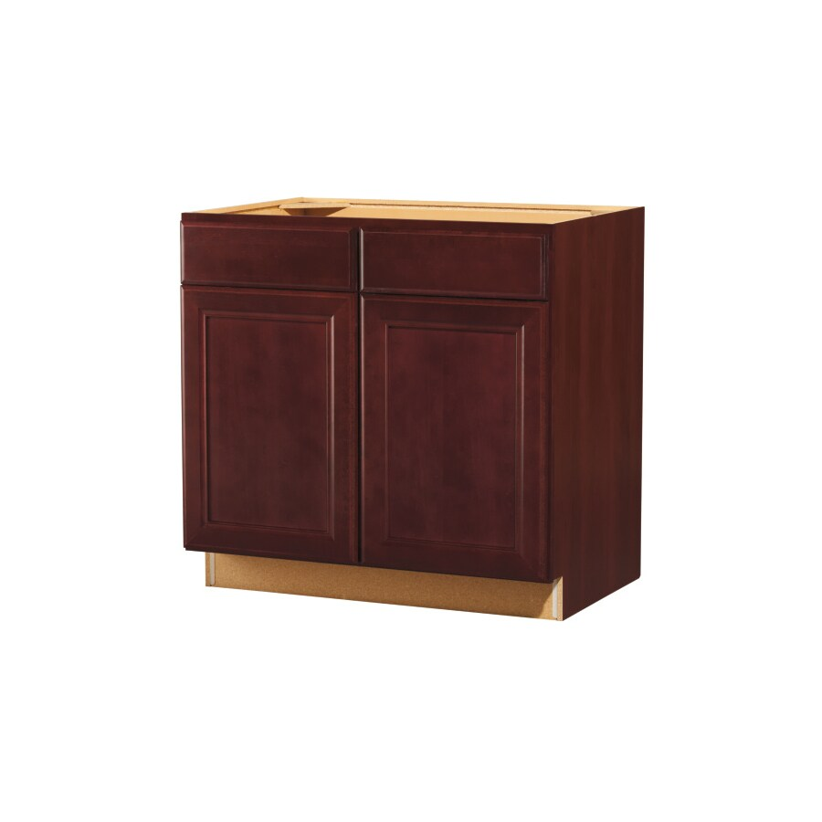 Kitchen Classics 35 In H X 36 In W X 23 3 4 In D Merlot Sink Base Cabinet At Lowes Com