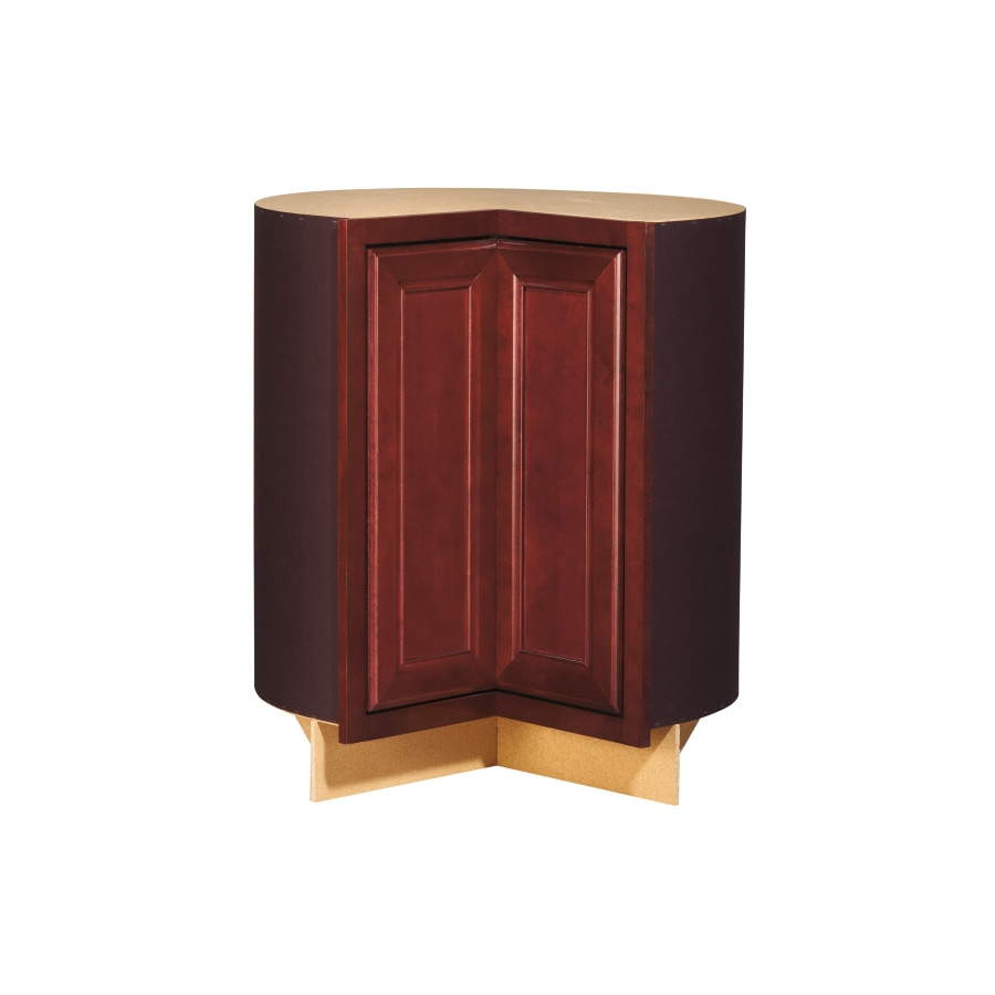 Kitchen Classics 35-in H x 30-3/4-in W x 23-3/4-in D Merlot Lazy Susan Base Cabinet