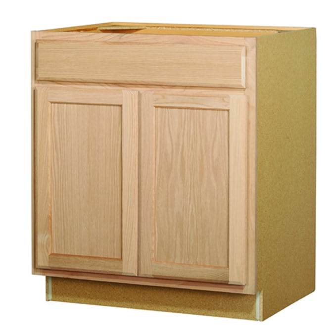 Kitchen Classics 35 In X 30 In X 23 75 In Unfinished Oak Sink Base Cabinet At Lowes Com