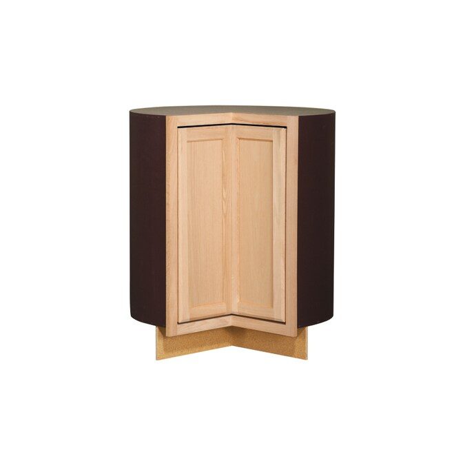 Kitchen Classics 35 In X 36 In X 23 75 In Unfinished Oak Lazy Susan Base Cabinet At Lowes Com