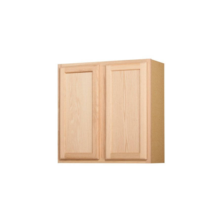 Unfinished brown oak double door kitchen wall cabinet at lowes com - Kitchen Classics 30 In X 30 In X 12 In Oak Unfinished Double