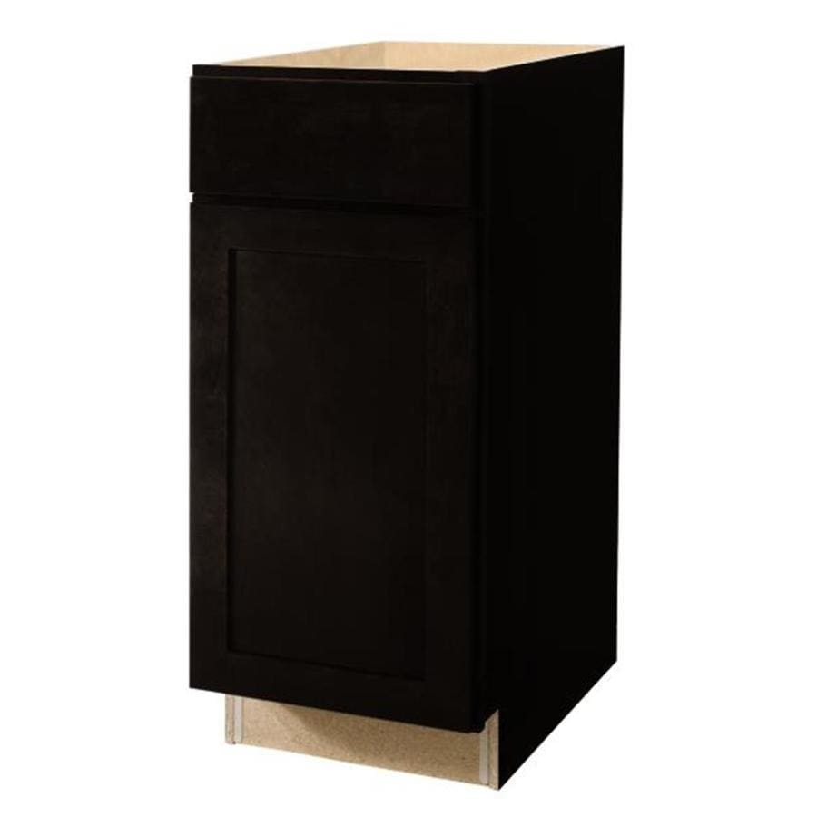 Diamond NOW Brookton 15-in W x 35-in H x 23.75-in D Espresso Door and Drawer Base Cabinet