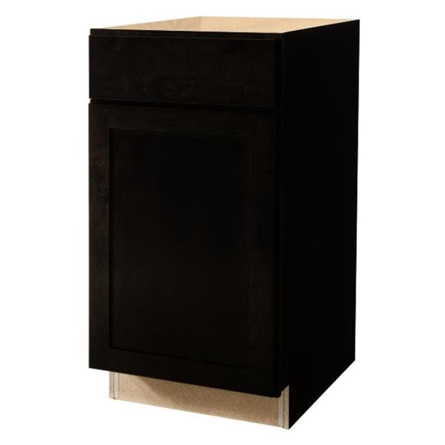 Diamond NOW Brookton 18-in W x 35-in H x 23.75-in D Espresso Door and Drawer Base Cabinet