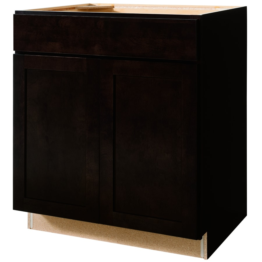 Kitchen Classics Brookton 30-in W x 35-in H x 23.75-in D Espresso Door and Drawer Base Cabinet