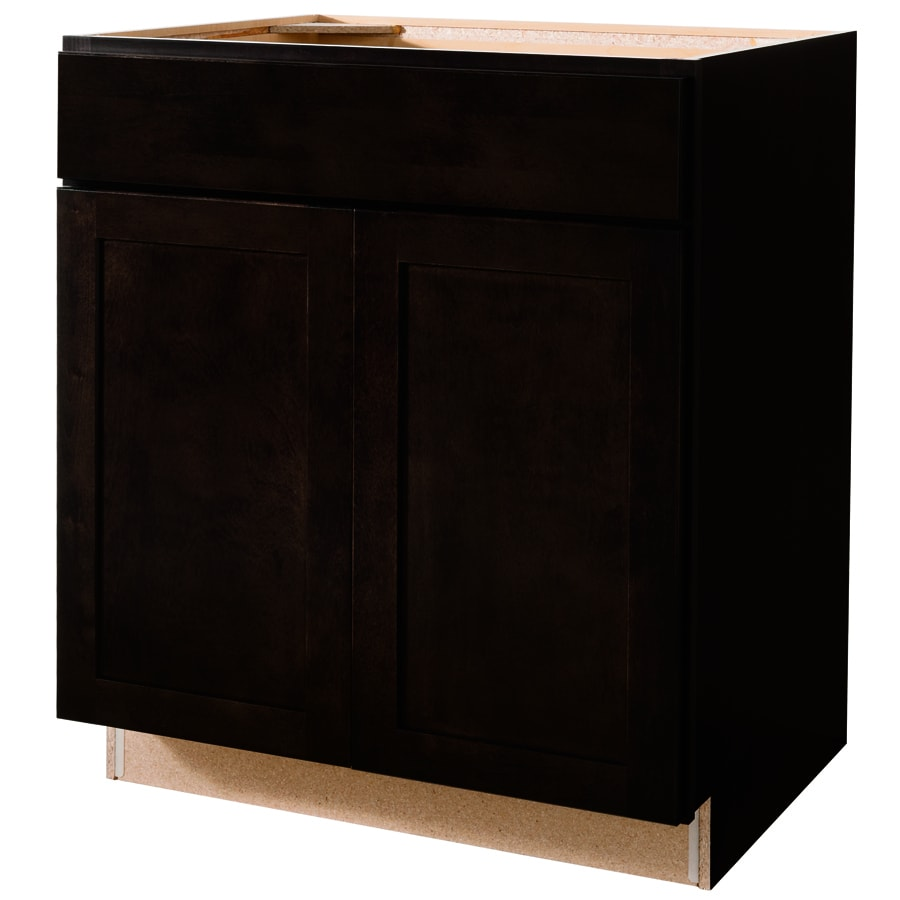 Shop diamond now brookton 30 in w x 35 in h x d espresso sink base cabinet at Kitchen cabinets 75 off