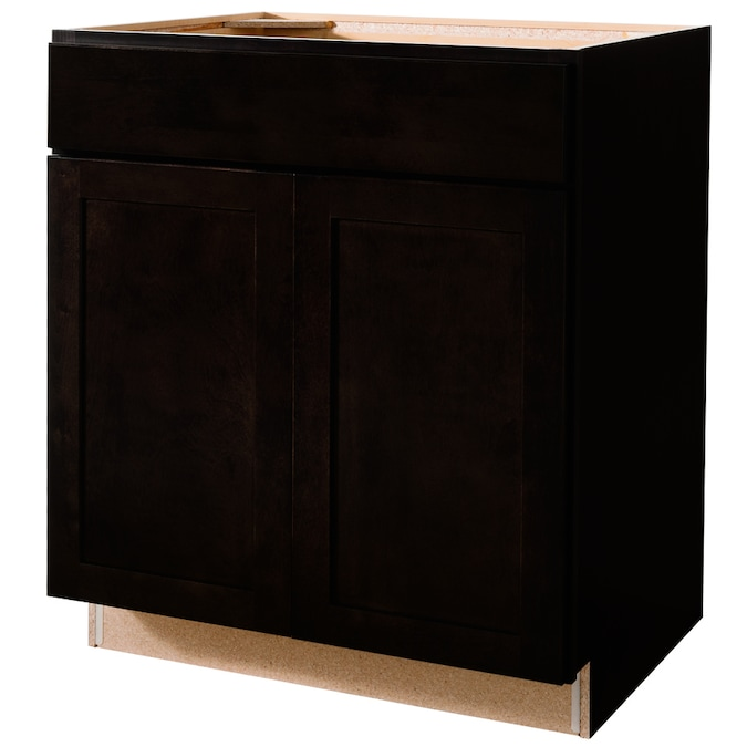Diamond Now Brookton 30 In W X 35 In H X 23 75 In D Espresso Sink Base Stock Cabinet In The Stock Kitchen Cabinets Department At Lowes Com