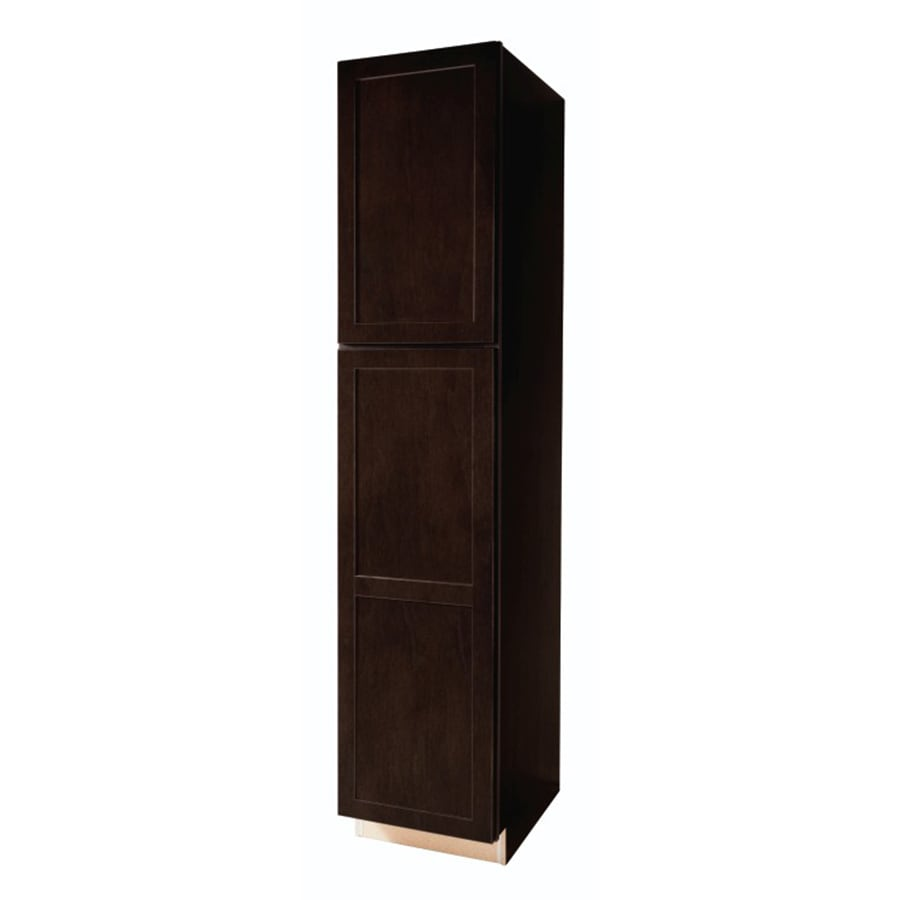 Shop Diamond Now Brookton 18 In W X 84 In H X D Espresso Shaker Door Pantry Cabinet At