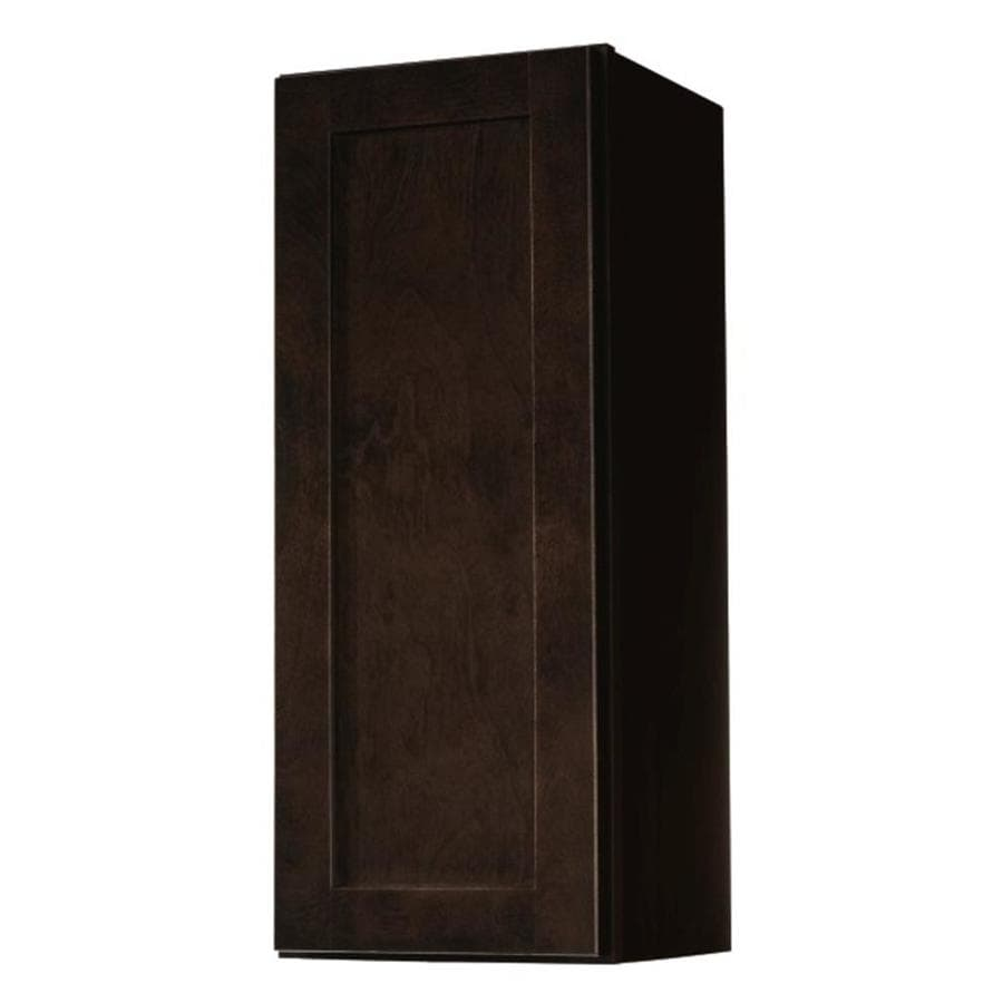 Diamond NOW Brookton 12-in W x 30-in H x 12-in D Espresso Door Wall Cabinet