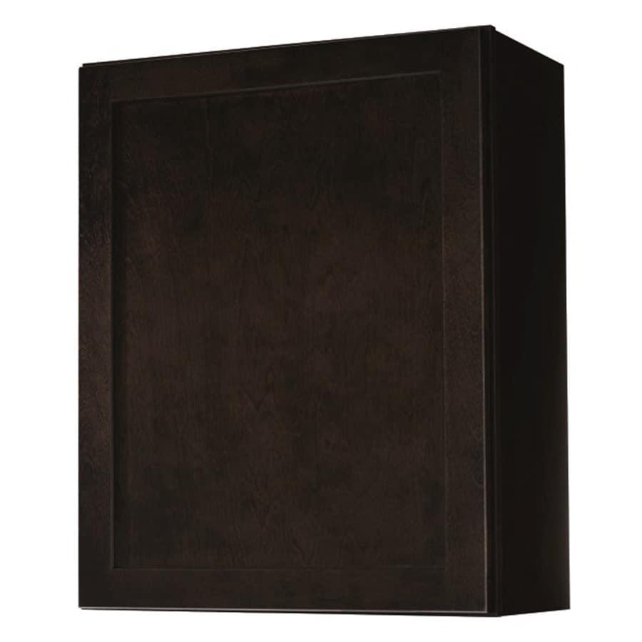 Diamond NOW Brookton 24-in W x 30-in H x 12-in D Espresso Door Wall Cabinet