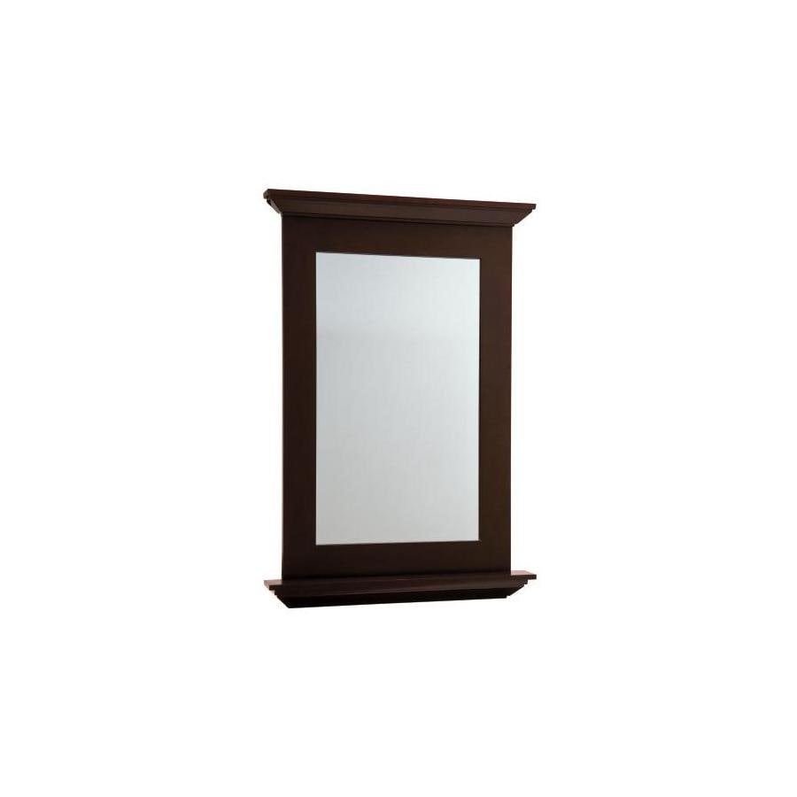 allen + roth Palencia 25-in W x 34-in H Espresso Rectangular Bathroom Mirror