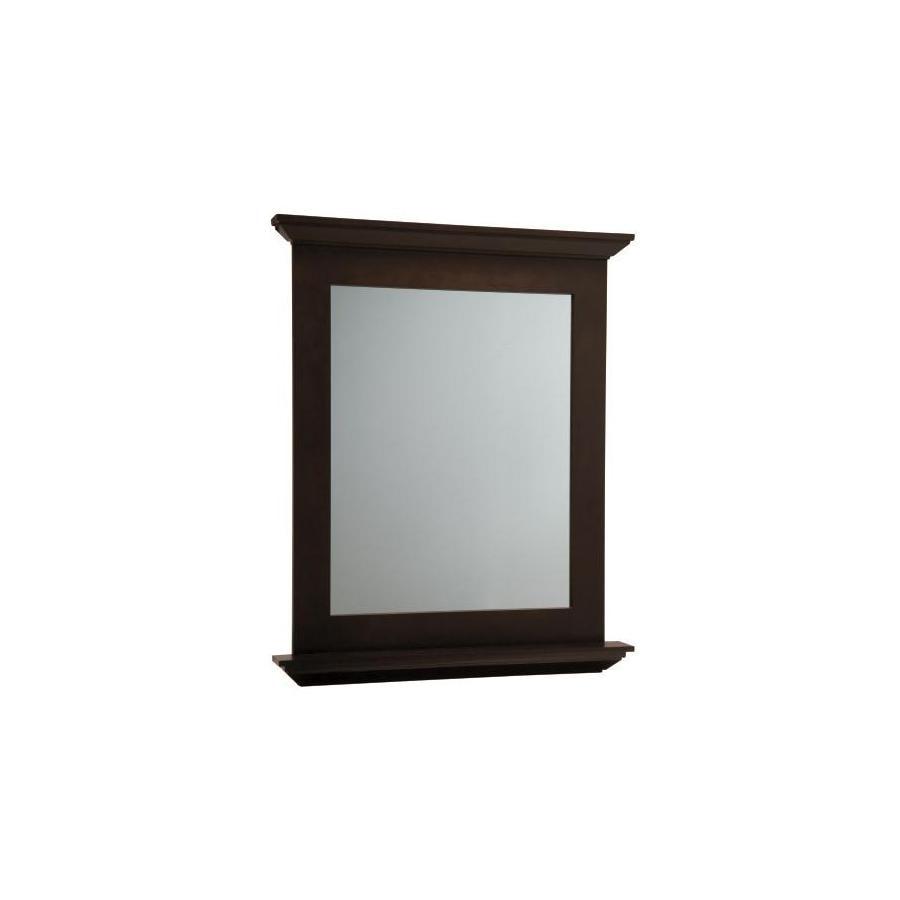 allen + roth Palencia 30-in W x 34-in H Espresso Rectangular Bathroom Mirror