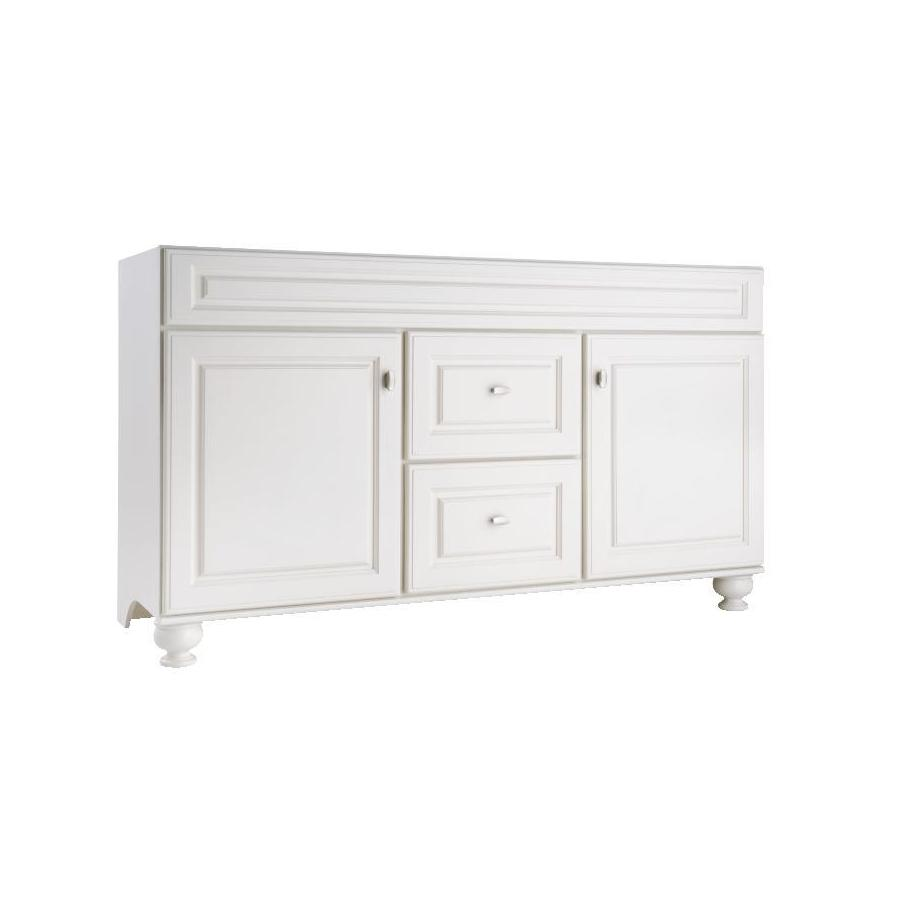 Diamond FreshFit Britwell Cream Traditional Bathroom Vanity (Common: 60-in x 21-in; Actual: 60-in x 21-in)