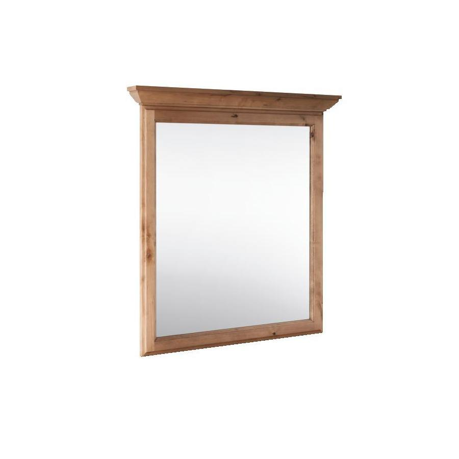 Shop Style Selections Collingwood 30 In X 34 In Natural Rectangular Framed Bathroom Mirror At