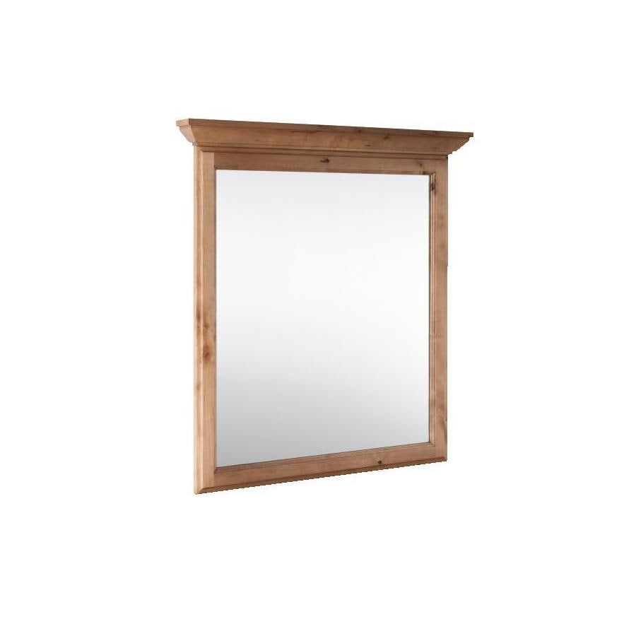 Shop style selections collingwood 30 in x 34 in natural rectangular framed bathroom mirror at Home hardware furniture collingwood