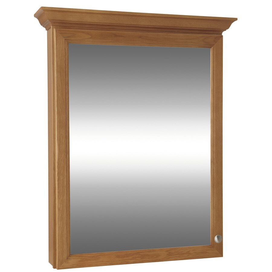 Shop Style Selections Northrup Honey 30-in W x 34-in H x 6.7-in D ...