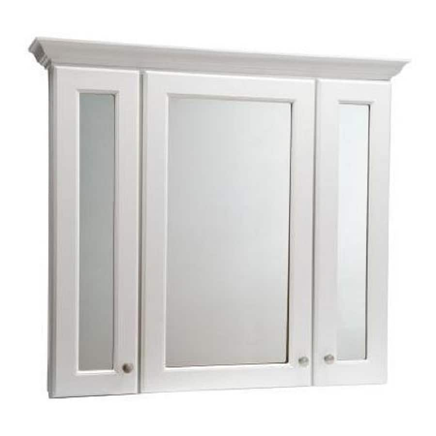 Shop Style Selections Northrup White 42-in W x 34-in H x 5-in D ...