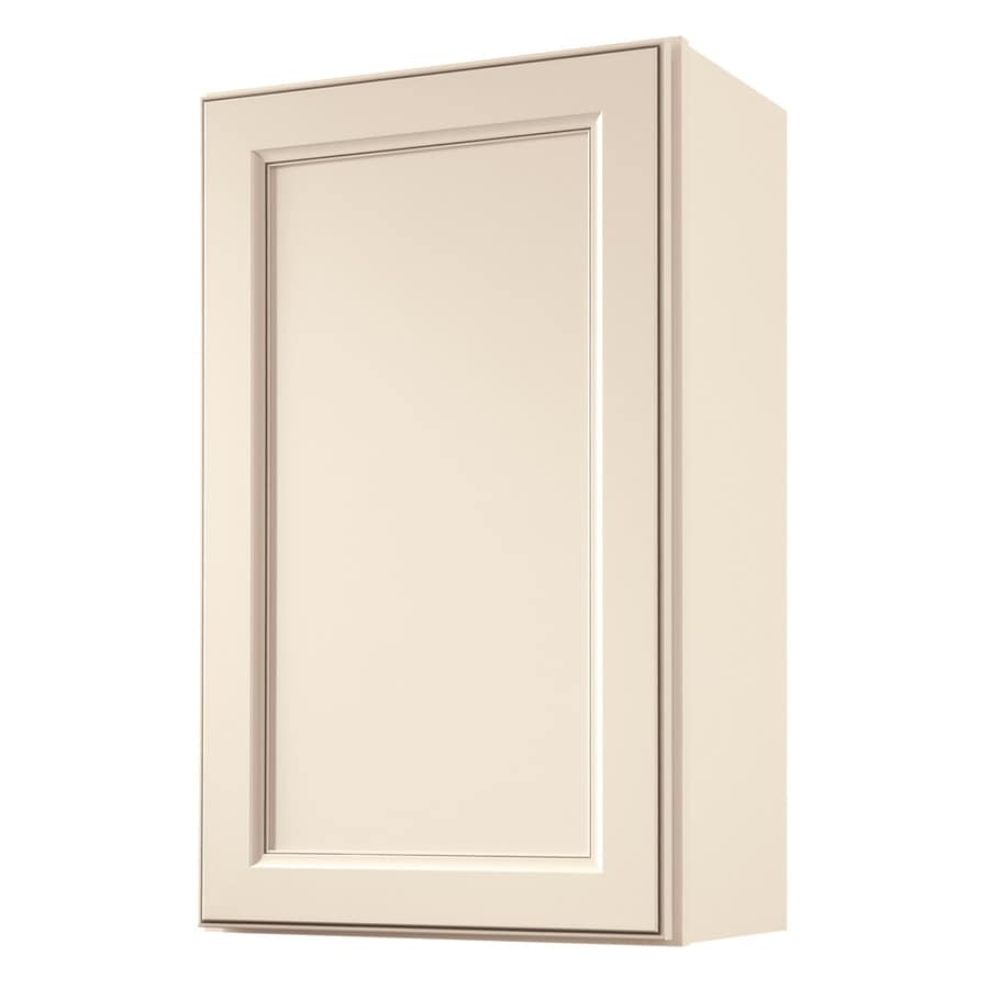 Diamond NOW Caspian 18-in W x 30-in H x 12-in D Laminate Toasted Antique Engineered Wood Door Wall Cabinet