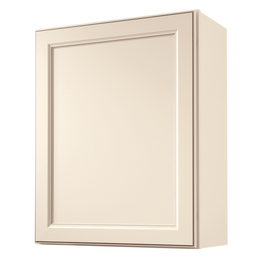Diamond NOW Caspian 24-in W x 30-in H x 12-in D TrueColor Toasted Antique Door Wall Cabinet