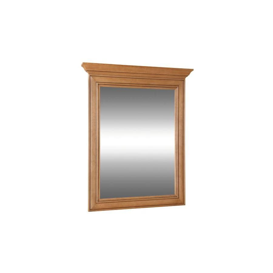 Style Selections Ryerson 30-in W x 34-in H Golden Rectangular Bathroom Mirror
