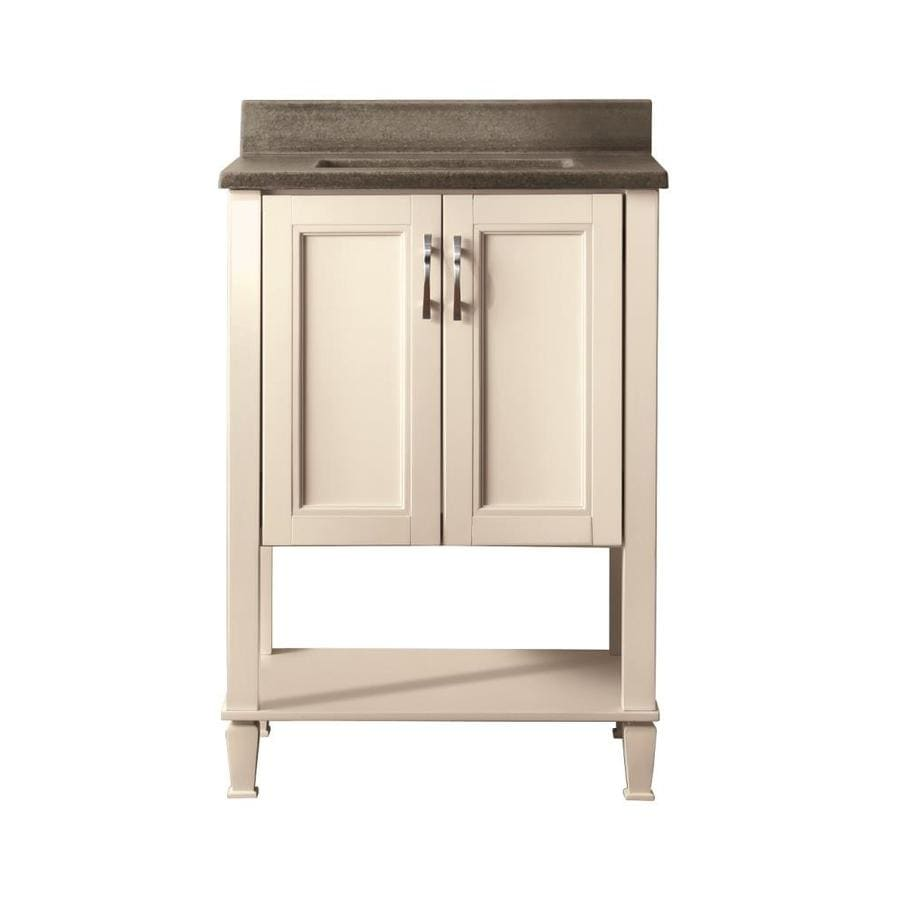 Style Selections Ashen White 25-in Undermount Single Sink Bathroom Vanity with Cultured Marble Top